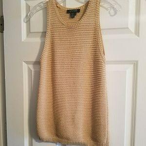 *Final Price* Ralph Lauren Beige Knitted Cami Tank